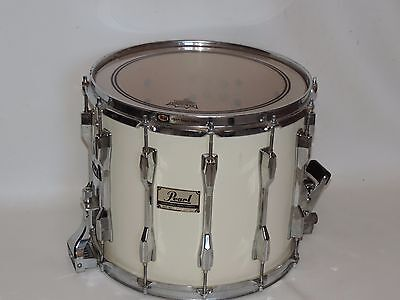 pearl 12 x 14 marching band snare drum white ebay. Black Bedroom Furniture Sets. Home Design Ideas