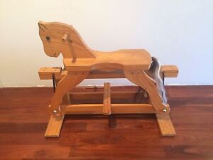 Wooden rocking horse Hillarys Joondalup Area Preview
