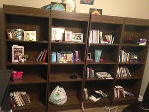 4 adjustable bookshelves