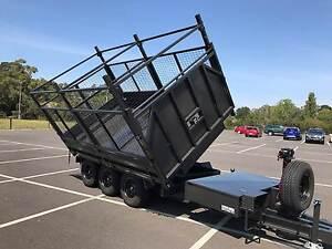12x7 Flatbed Tri-axel Heavy Duty 3 Way Tipper Trailer - 4.5T GVM Narre Warren Casey Area Preview