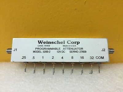 Weinschel 3200-2 Dc To 2 Ghz 63.75 Db Sma F Programmable Attenuator. Tested