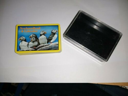 Vintage Newfoundland & Labrador Playing Cards deck, Atlantic Puffin, see pics