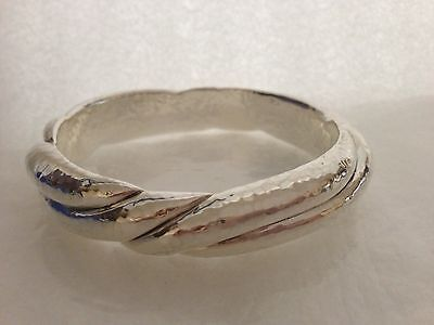 IPPOLITA Sterling Silver Glamazon Think Twisted Bangle Bracelet Size 1