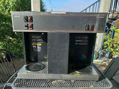 Bunn Vps Series 04275-0013 Black 12 Cups Commercial Coffee Maker Triple Warmer
