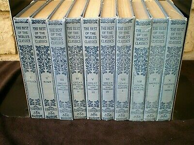 THE BEST OF THE WORLD'S CLASSICS Henry Cabot Lodge [1909, Vol. 1-10 HC BOOK (The Best Of The World)