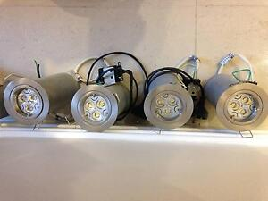 Lot of 26 LED Ceiling Lights. 240V 5.5W Dimmable LED + Cages Chatswood Willoughby Area Preview
