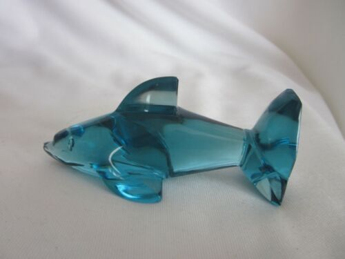 """Hand Crafted Blue Crystal Dolphin 4.5"""""""
