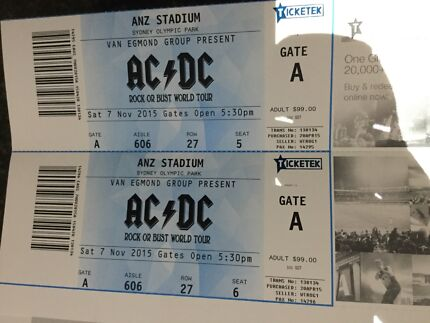 AC/DC tickets with overnight accommodation at Ibis Olympic Park Heddon Greta Cessnock Area Preview