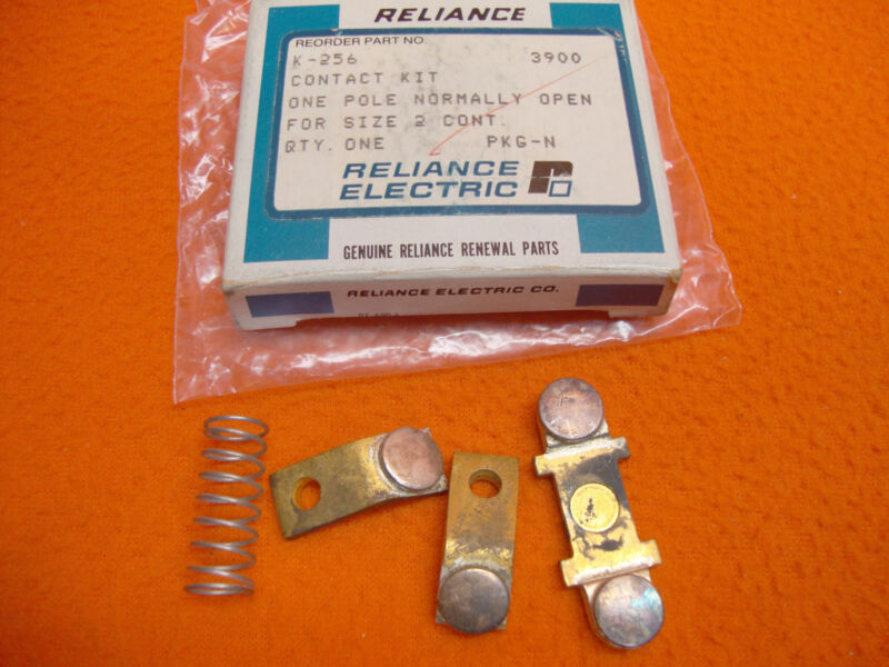 NEW Reliance Electric K-256 Contact Kit K256 1 Pole NO Motor Size 2 contactor