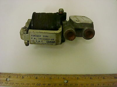 Vapor Corp  Exhaust Type P N  57131035 02 Valve 14 V D C   Item Only   Nos