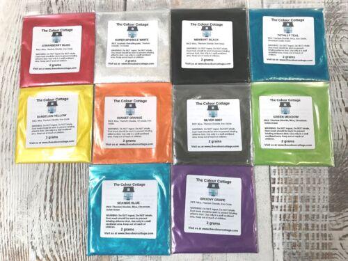 Mica Powder 10 Pack Sample Shimmer Pigment for Epoxy Resin Art, Soap, 2g Pks A2