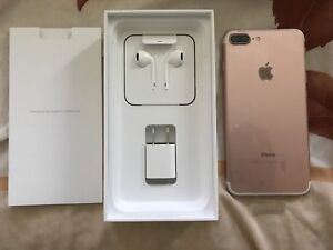 iPhone 7 Plus 128gb (ROSE GOLD) (Earphones Brand new)