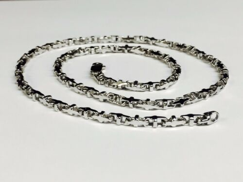 14k Solid White Gold Anchor Mariner Link Chain Necklace 3.1 Mm  25 Grams  24