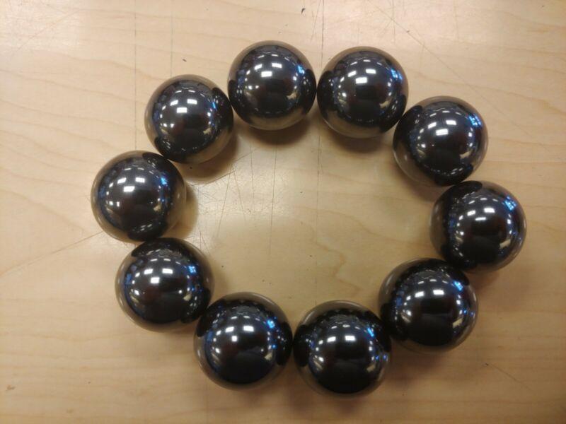 "10 Qty Magnetic singing ZINGER BALLS 1"" Diameter Hematite Strong Magnets 25mm"