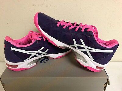 Asics Women's Gel-Solution Speed 3 Tennis Shoe Parachute Purple/Wht/Hot Pink