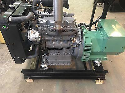 25 Kw Diesel Kubota Generator 12 Lead Re-connecable 120240 Volt Prime Power