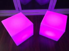 Multi Colour LED STOOL Cube Whyalla Jenkins Whyalla Area Preview