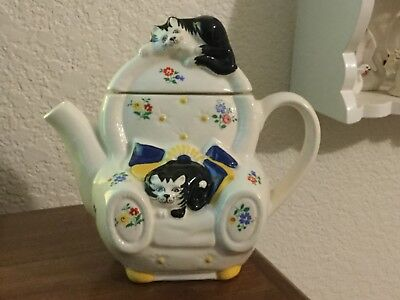 Used, VINTAGE WADE ENGLAND TEAPOT FELINE COLLECTION JUDITH WOOTTON CAT LOUNGE CHAIR for sale  Redding