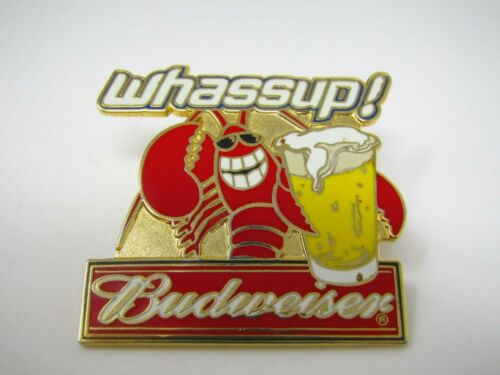 Budweiser Beer Pin Whassup! Lobster Design