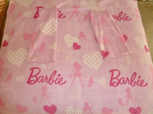 BARBIE Fleece Blanket with Sleeves, Wearable