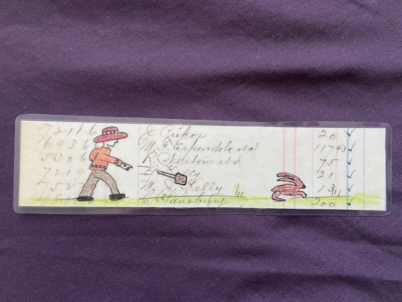 Native American Choctaw Indian Ledger Art Bookmark