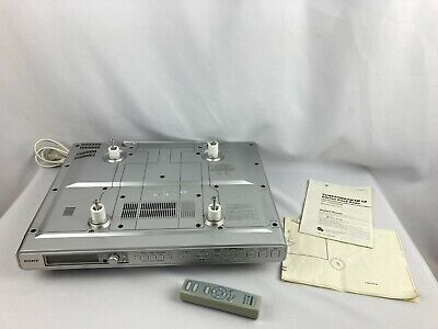 Sony Under Cabinet Kitchen CD Player Clock Radio ICF-CD553RM w/ Remote RM-CD543A