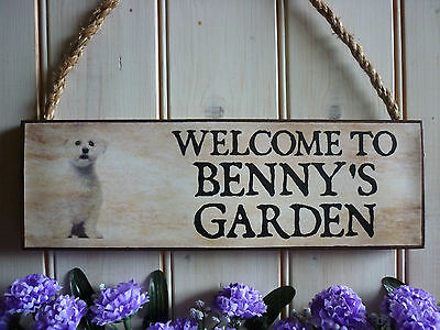 WELCOME SIGN HOUSE SIGN BICHON FRISE SIGN GARDEN SIGN PERSONALISED DOG PRESENTS ()