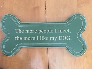 Wooden Dog Sign