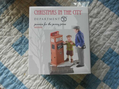 DEPT 56 CHRISTMAS IN THE CITY Accessory PENNIES FOR THE PENNY PRESS NIB