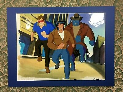 Marvel X-Men Animated Series Cyclops Wolverine Beast Production Animation Cel
