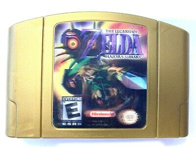 AUTHENTIC! Legend of Zelda Majora's Mask N64 Gold 3D Edition Cartridge - Tested! comprar usado  Enviando para Brazil