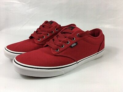 "Vans Atwood Casual Pump Trainers""Chilli Pepper Red"" Size Uk10/EU44.5"