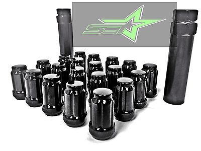 20 BLACK SPLINE TUNER RACING LUG NUTS | 12X1.5 | FITS MOST JDM HONDA ACURA |
