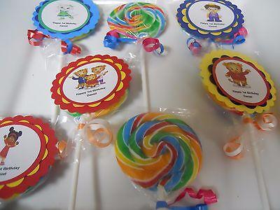 12 Daniel Tiger 2nd 3rd 4th 5th Birthday Jumbo Whirly swirl Hard Lollipop Favors