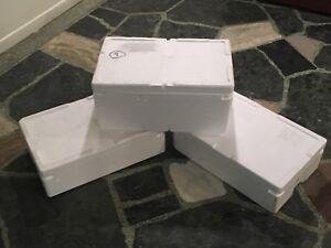 Insulated foam boxes / boîtes de styrofoam