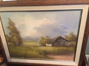 1984 Beautiful Frontier Oil Painting