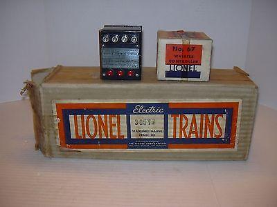 Lionel Standard Gauge 385TW Whistle Tender Set Box  w/No. 67 Whistle controller