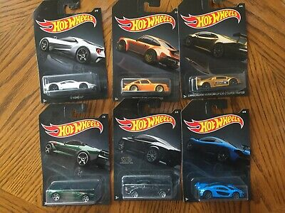 2019 Hot Wheels Exclusive 1/64 Exotic Series Complete Set Of 6 cars