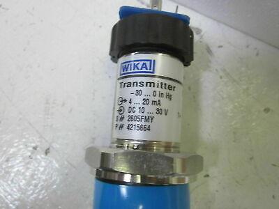 Wika S-11 Pressure Transmitter 7231118 0-5 Psi 4-20ma