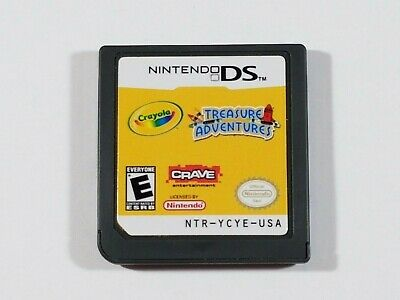 ¤ Crayola Treasure Adventures ¤ (Game Cart) Good! Nintendo DS 3DS Authentic