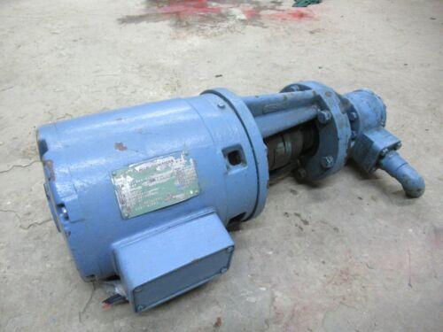 ROPER FLUID GEAR PUMP 17 K 15 3 HP MOTOR 230/460 VOLTS 1760 RPM 182TC FRAME