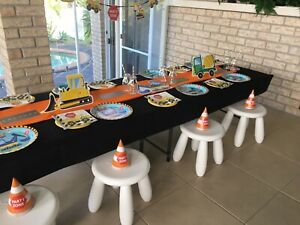 Construction Boys Table   Chairs Party Package Hire Upper Coomera Gold Coast North Preview
