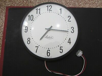 Lathem Isc12rfa 24 Vdc Impulse Wall Clock Semi-flush Mount School Hospital