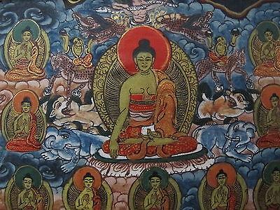 Antique Thangka Mandala Tibet Nepal painting
