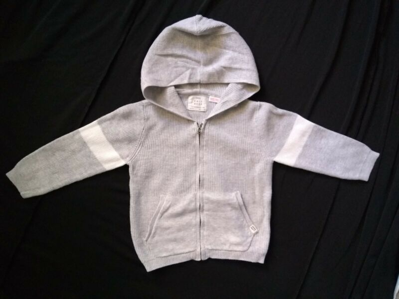 Zara Baby Boy Knitted Hooded Cardigan Sweater Size 18-24 Months