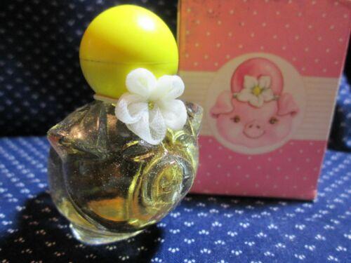 Vintage Avon Yellow Pretty Piglet With Honeysuckle Cologne NIB