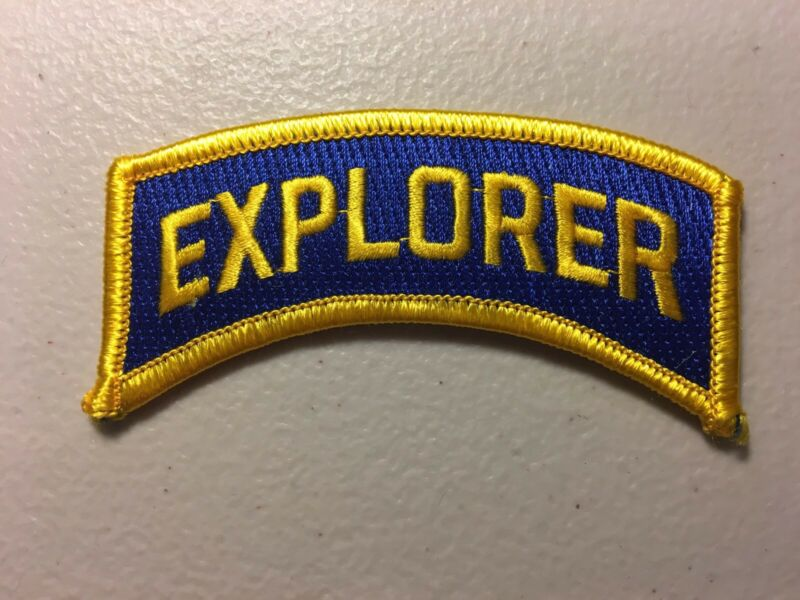 """Police Explorer Cadet Embroidered Patch Blue / Gold 1.5"""" X 3.5"""""""