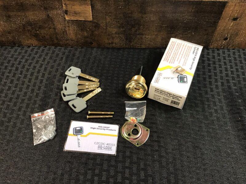HQ HQ1012 Rim Mortise High Security Cylinder 5 Keys 1 Qty