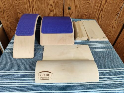 Sae Arc Wood Yoga Prop Back Stretching Set (6 Pieces) Used Nice Condition