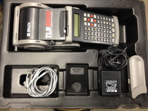 Brady TLS2200 Thermal Labeling System w/ Case, Charger, Xtra Ink Roll